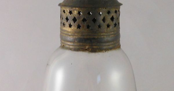 Great 18th Or Early 19th Century Tin Amp Glass Whale Oil