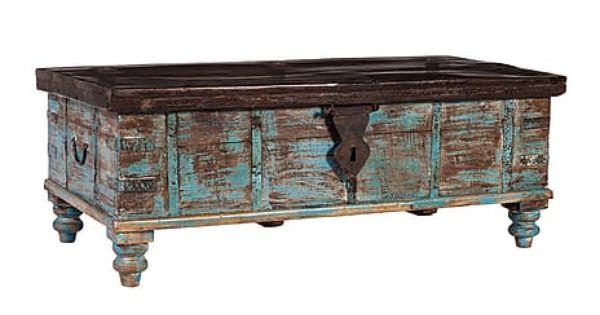 Mesa de centro ba l antiguo de madera de teca art culos for Baul madera barato