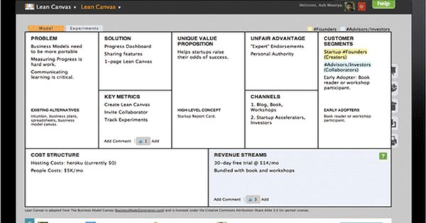 Lean Canvas - Online tool for your Business Model ...