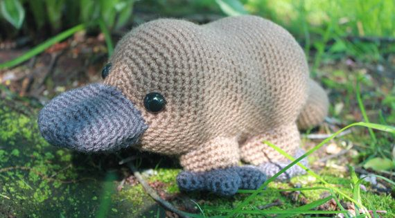 Free Crochet Patterns Australian Animals : Crochet Pattern: Platypus Amigurumi PDF Instant Download