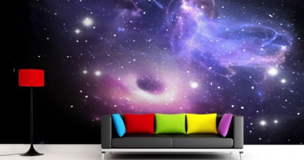 Bright galaxy wallpaper wall mural for Bright wallpaper for walls
