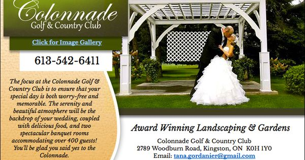 Plan Your Next Outdoor Wedding At The Colonnade Golf Amp Country Club Kingston Wedding