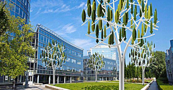 New Silent Wind Tree Turbines Make Energy Production