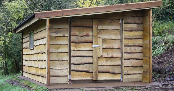 Waney Edge Rustic Shed The Wooden Workshop Oakford