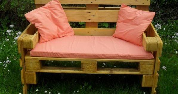 Gartenbank aus euro paletten tr dg rdsid er balkong och for Holzpaletten kaufen obi