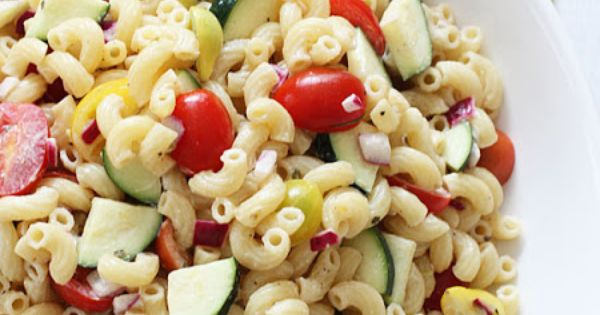 Summer Macaroni Salad with Tomatoes and Zucchini | Recipe | Summer ...