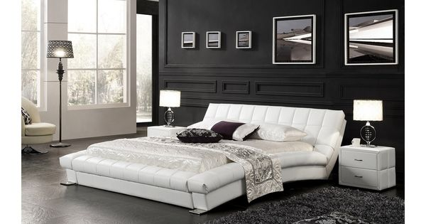 lit capitonn sommier neptune 160x200 cm blanc mymeubledeco tapisserie pinterest design. Black Bedroom Furniture Sets. Home Design Ideas