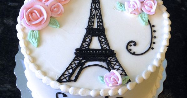 Pretty and feminine, this Eiffel Tower cake is perfect for ...