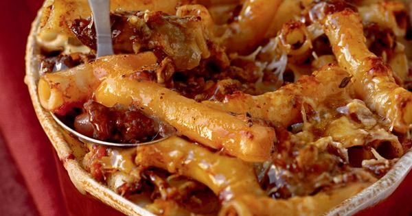 Baked Ziti with Spicy Pork and Sausage Ragu | Recipe | Baked Ziti ...