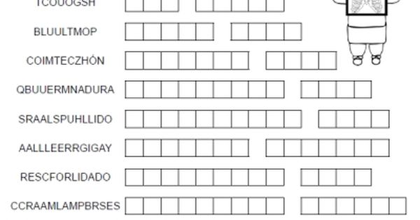new printable spansh freebie of the day mi enfermedad word merge puzzle answer key from. Black Bedroom Furniture Sets. Home Design Ideas