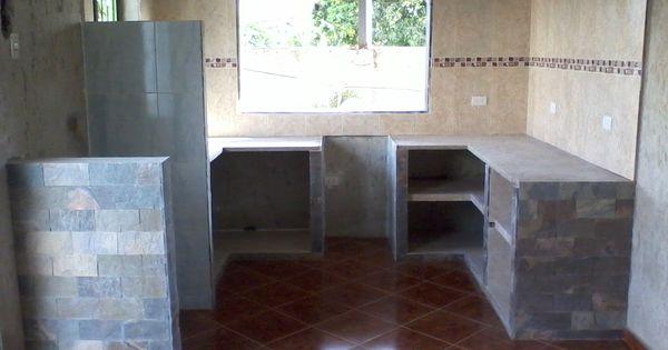 Cocina en mamposteria recubierta con ceramica y laja for Cocinas de mamposteria