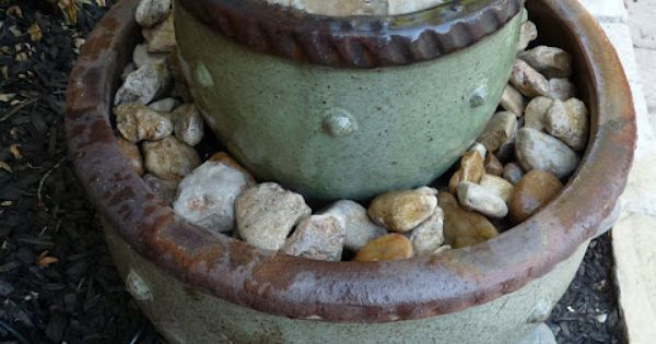 DIY garden fountain : DIY Flower Pot Fountain