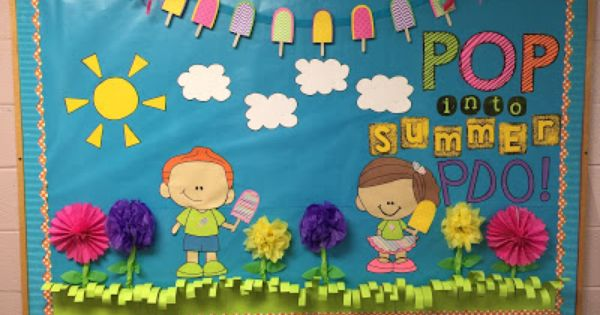 Classroom Door Design ~ Pop into summer bulletin board creativeclassroompaperie