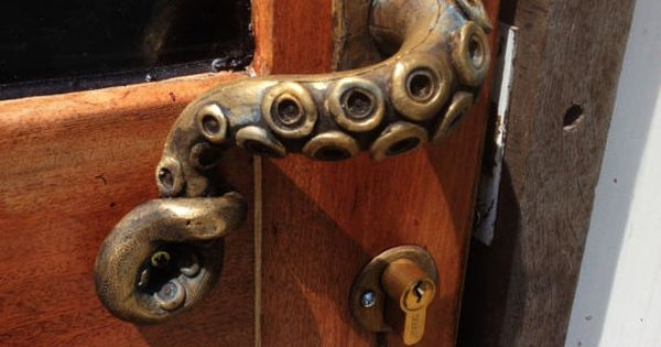 2x Octopus Door Handle Steampunk Vintage By Gregshome On