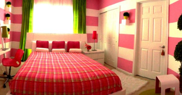 10 year old girls pink and green and pretty all over room gabbys room pinterest 10 years - Pretty green rooms ...