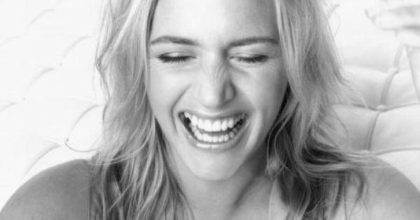 Girl crush: Kate Winslet having a laugh.