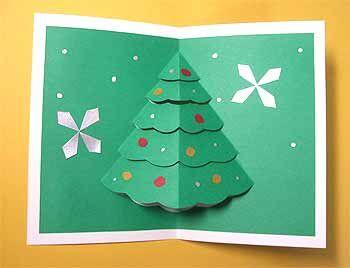 クリスマスカードを手作り 子供も簡単飛び出すツリーに雪だるまの作り方 コタローの日常喫茶 クリスマスカード 手作り クリスマス ポップアップ カード クリスマスカード