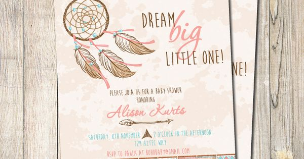 Boho Baby Shower Dream Big Little One Cute Idea