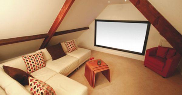 Attic Home Theater Design Idea Attic Rooms Attic Renovation Attic Movie Rooms