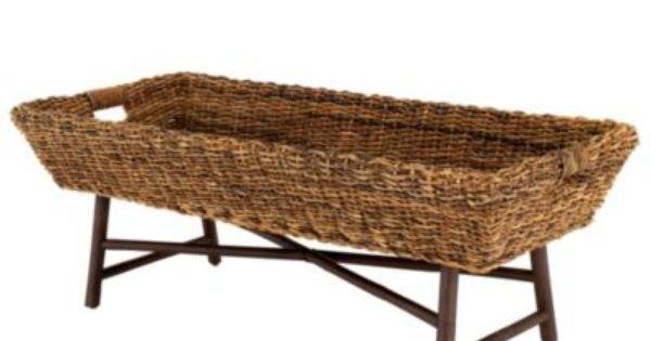 Coffee Table Abaca Basket Coffee Table Storage Basket Coffee Table