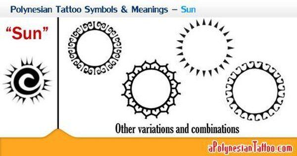 Polynesian Tattoo Symbols Meanings Sun Polynesian Culture