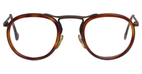 vintage le club optique tortoise shell metal eyeglasses