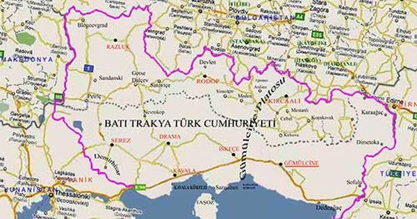 Batı Trakya Türk Cumhuriyeti | Map, Knit rug, Semitic languages