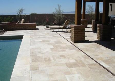 Travertine Pool Deck Outdoor Oasis Pinterest