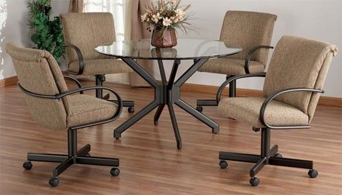 Dining Chairs With Casters Dining Room Chairs With Wheels Drew