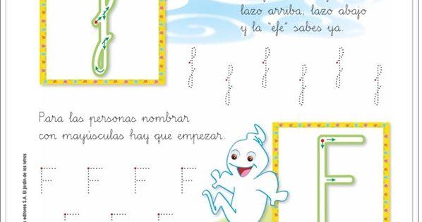Letra f el jard n de las letras lectoescritura for El jardin de las letras