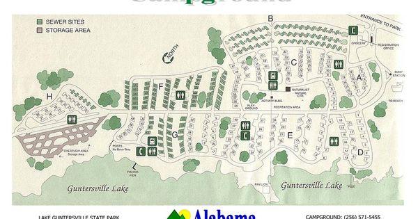 Lake Guntersville State Park Campground Map Google