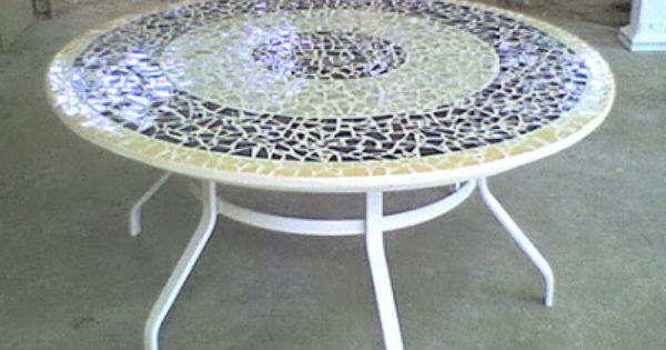 Mosaic Tabletop Ideas Wide Custom Broken Tile Mosaic Table Top