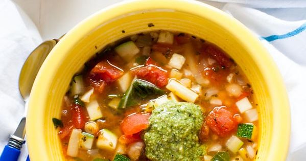 Panera Garden Vegetable Soup With Pesto Recipe Soups Stew And Recipes