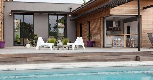 Superbe maison bois contemporaine design e par un for Combien coute un architecte d interieur