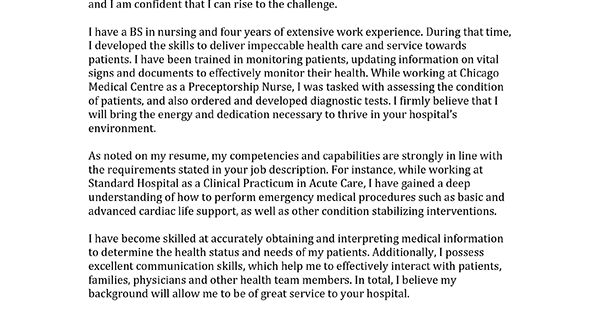 Learn How To Write A Nursing Cover Letter Inside. We Have Entry-level And Professional Samples