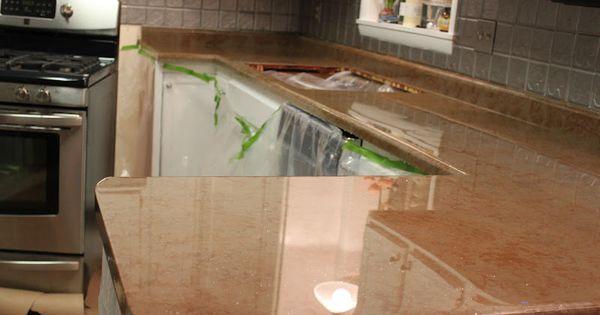 I love this diy countertop using envirotex lite sealer household helpers pinterest - Diy redo kitchen countertops ...