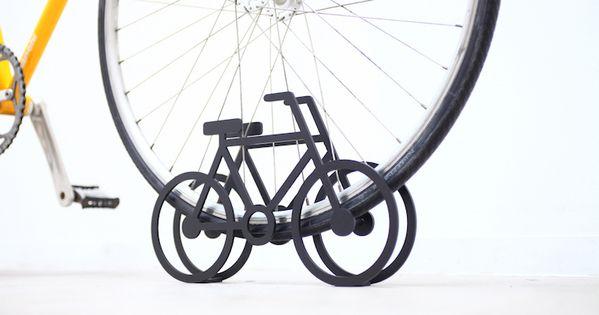 ひと目で駐輪場だと分かる シンプルなデザインの自転車スタンド