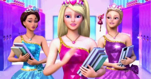 Barbie Escola De Princesas Filme Completo Dublado Filme De Animacao Filmes Da Barbie Barbie Rapunzel Princesas