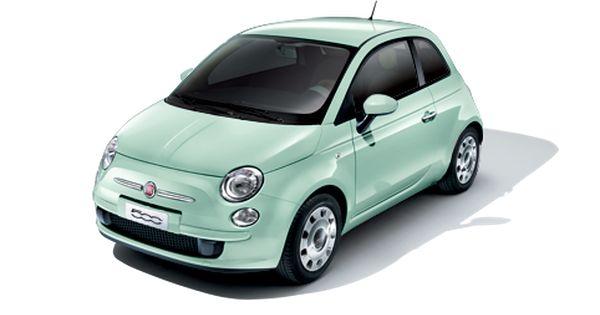 16 000 Fiat 500 New Small Car Australia In Pastel Mint