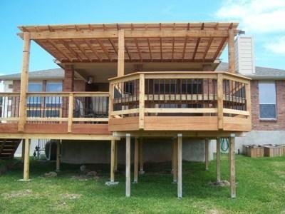 Elevated Deck Ideas Deck With Pergola Pergola Deck Design