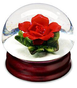 Red Rose Snow Globe A Symbol Of Love And Beauty For Thousands Of