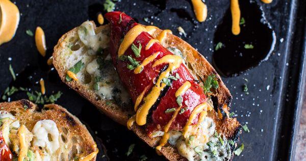 Cheesy Avocado Crab Stuffed Piquillo Pepper Ciabatta ...