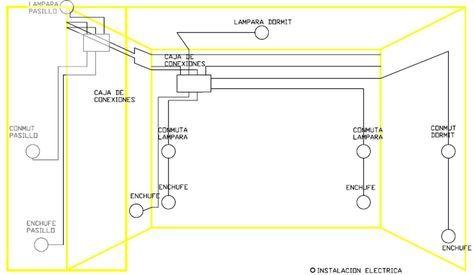 Plano Topografico Instalac Vivienda Dormitorio Instalacion Electrica Electricidad Casa Imagenes De Electricidad