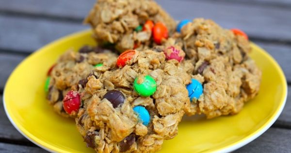 Gluten free Monster cookies, from Cooking with my kid. Just how to