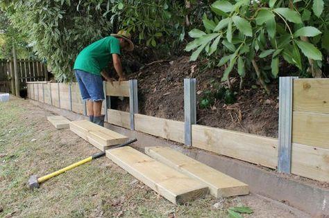 6 Facons De Retenir La Terre Dans Son Jardin Terrasses En Bois