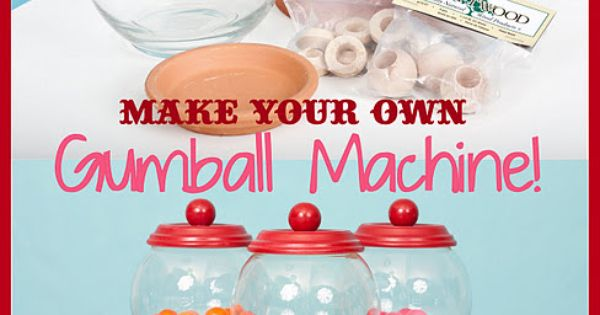 centerpieces? DIY Tutorial: Make Your Own Bubble Gum Machine! Great candyland birthday