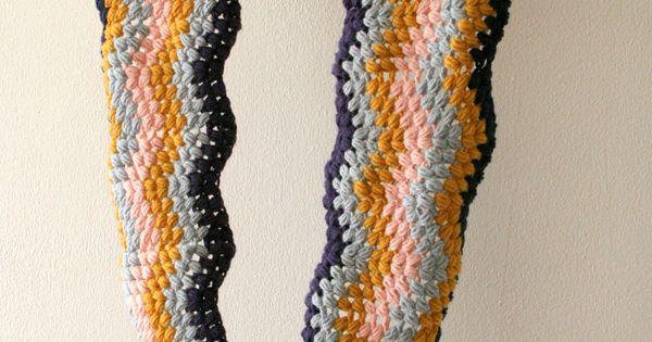 Crochet Stitches Tutorial Pdf : Cowl crochet pattern, chevron puff stitch PDF download, DIY tutorial ...