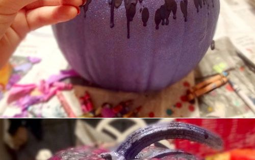 Melted crayon pumpkins. A whole new dimension of melted crayon art!!