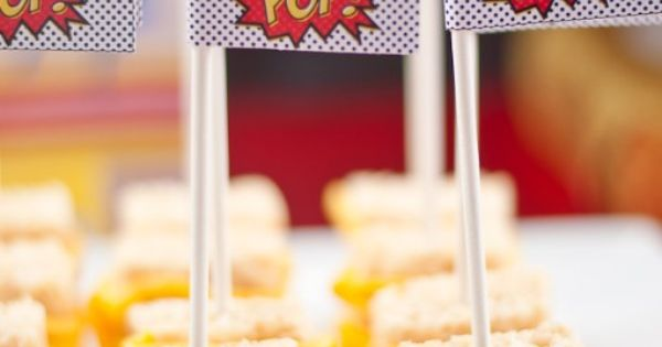 Snacks dulces para una fiesta superheroes / Sweet snacks for a superhero