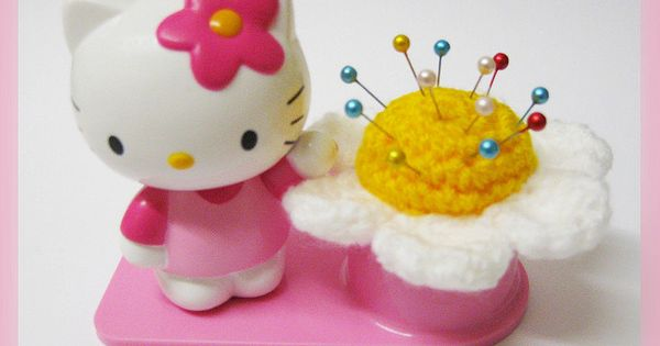 Hello Kitty Flower Pincushion Amigurumi Crochet Pattern ...